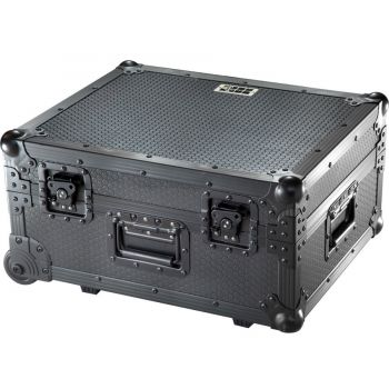 Walkasse TT PRO-LIMITED BK Flight Case Multi Formato Tocadiscos (Trolley + Ruedas) Plata