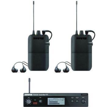 SHURE Kit PSM300 con 1 P3T, 2 P3R, 2 SE112-GR.