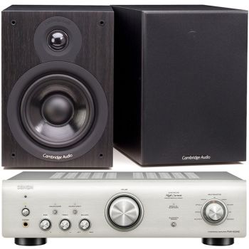 Denon PMA-600 NE Silver+Cambridge Audio SX50 BK Conjunto audio