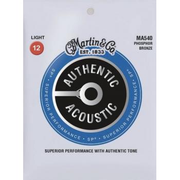 Martin MA540 Cuerdas Guitarra Acústica AUTHENTIC SP PHOSPHOR BRONZE 92/8 LIGHT 12-54