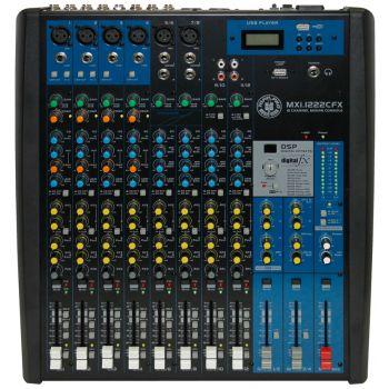 Topp Pro MXI 1222CFX Mezclador 12 Canales con Efectos, Compresor y MP3