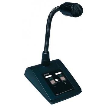 Apart Biamp MICPAT-2 Micrófono de sobremesa para megafonía de 2 zonas