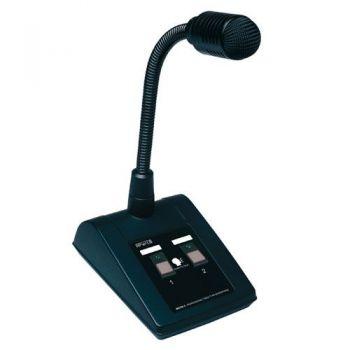 APART MICPAT-2 Microfono de Sobremesa Dinamico Para Avisos en 2 Zonas