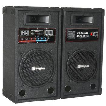 """SKYTEC SPA-1200 Altavoces Activos para Karaoke 12"""" PAR 170149"""