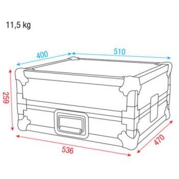 Dap Audio Mixer Case 8U 19