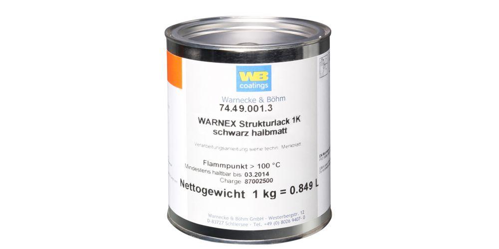 Warnex 0131 Textura pintura negra 1 kg