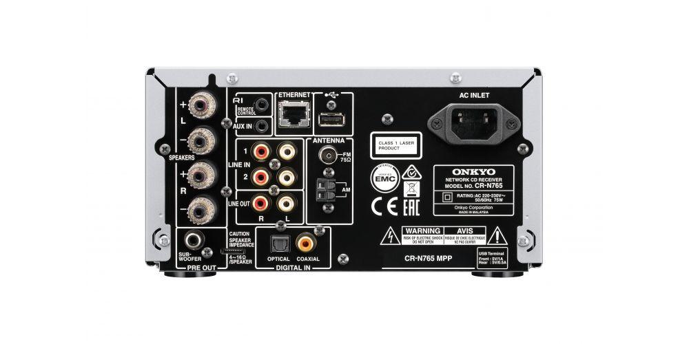 onkyo CS N765 BB negro negro conexiones