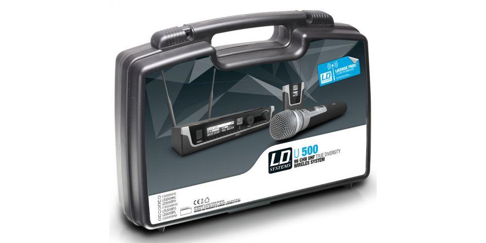 LD SYTEMS U508 BPHH Sistema inalámbrico con petaca y micrófono diadema color carne