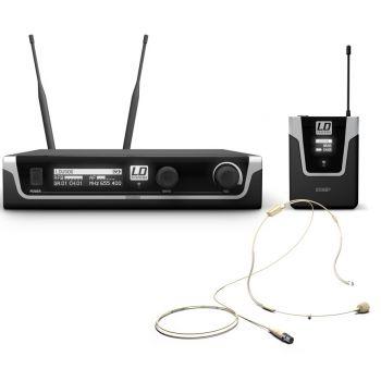 LD SYTEMS U506 BPHH Sistema inalámbrico con petaca y micrófono diadema color carne
