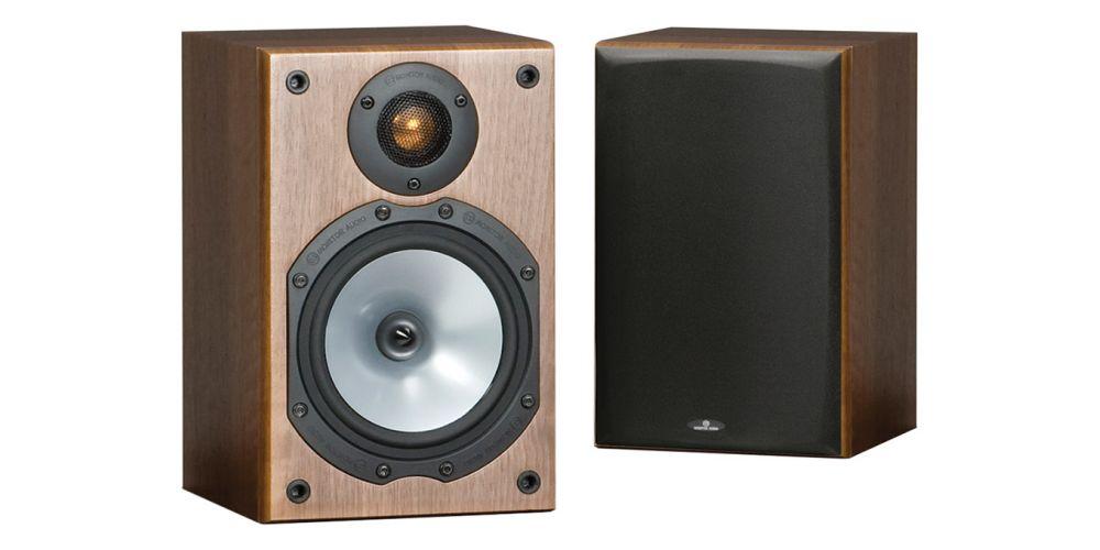 monitor audio mr1 walnut altavoces pareja