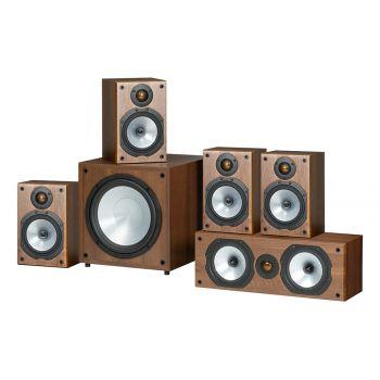 MONITOR AUDIO Kit Home Cinema 2 Pareja MR1Walnut + MR Centre Walnut + MRW10 Walnut, POWER 1