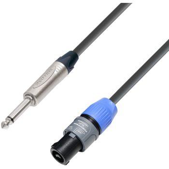 Adam Hall K5 S225PS0150 Cable Neutrik de Speakon 2 Pines a Jack 6,3 mm mono 1,5 m