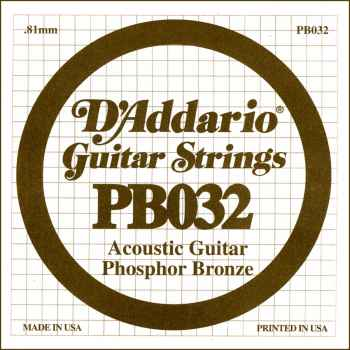 D´addario PB032 Cuerda Suelta para Guitarra Acústica