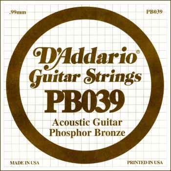 D´addario PB039 Cuerda Suelta para Guitarra Acústica