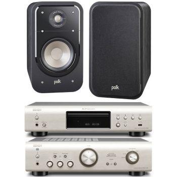 DENON SISTEMA 720-S15,  PMA-720 Silver +DCD720 Silver+Polk Audio S15B,  Conjunto audio