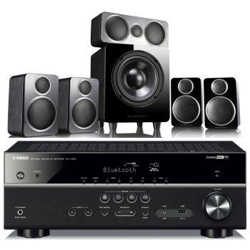 Yamaha RX-V485+Wharfedale DX-2 Conjunto Home cinema