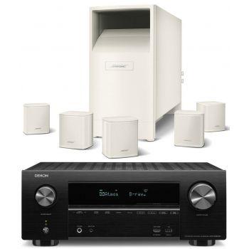 DENON AVR-X2500+Bose AM-6V WH Conjunto Home cinema
