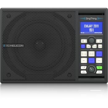 TC Helicon SINGTHING Altavoz con Procesador Efectos, incluye Micrófono y Cables -