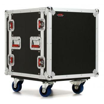 Gator G-TOUR-12UCAST Flightcase de Madera con Ruedas para 12 Unidades de Rack