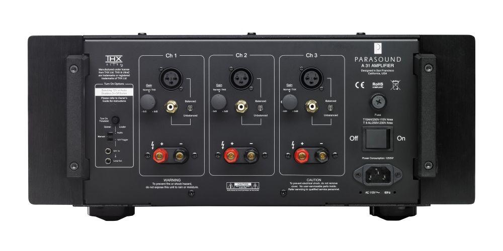 Parasound A31 Black Etapa Potencia 3canales conexiones
