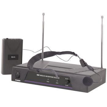 QTX VN1 Sistema inalámbrico VHF de micrófono de Diadema Frecuencia 173.8MHz 171836