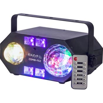 Ibiza Light COMBI-FX2 Efecto de Iluminación 4-en-1 Con Astro , Efecto de Agua, UV Y Strobo