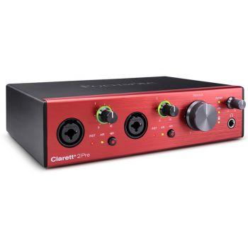 Focusrite Clarett+ 2 PRE Interfaz de Audio Profesional usb.10 Entradas y 4 Salidas