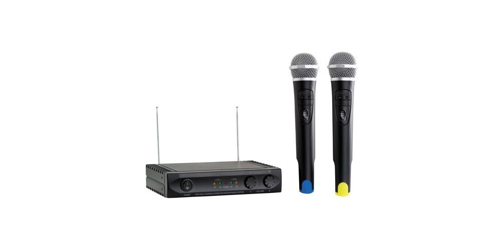 ACOUSTIC CONTROL MU-1002 HAND Microfono inalambrico doble + receptor