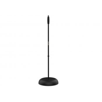 Pie de Micrófono Recto .Altura Regulable 85 cm -147 cm. STANDMIC-BASE Audibax