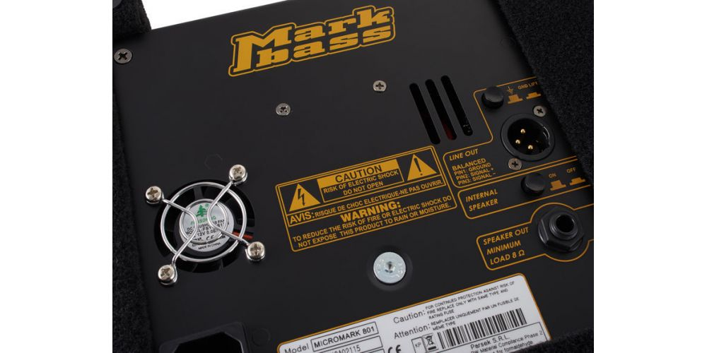markbass micromark 801 ventilador