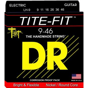 Dr Strings LH-9 TITE-FIT Nickle Plated Electric 009-046