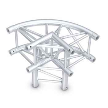 Showtec Circle Corner 3-Way 90 Esquina Cuadrada Curvada para Truss GQ30012C