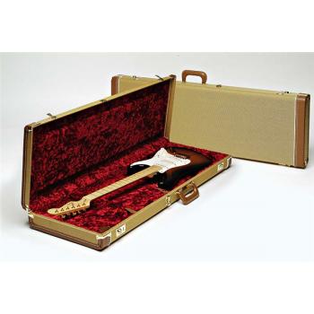 Fender G&G Deluxe Jazz Bass® Hardshell Estuche Amarillo y Rojo
