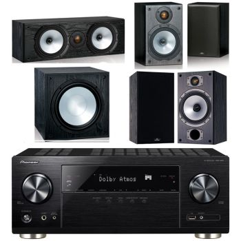 Pioneer VSX-932 BK + Monitor Audio Power 2-BK Conjunto Home Cinema
