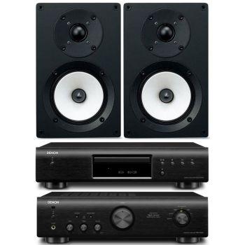 DENON PMA-520 Black+DCD520 Black+Onkyo D055  Conjunto audio