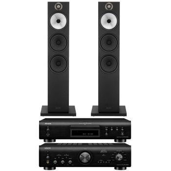 Denon PMA-800AE Black+DCD800 Black+BW 603 Black Conjunto Audio