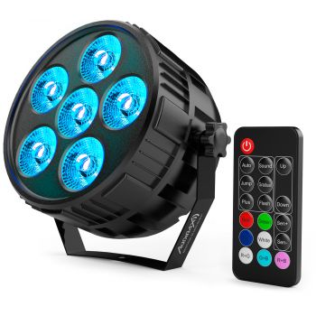 Audibax Montana 36 Mini RGBw 4 in 1 Foco Led Discoteca 36w + Mando