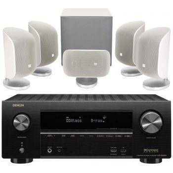 Denon AVR-X2600+BW MT50 White Cinema Pack 5.1 Conjunto AV
