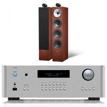 ROTEL RA-1592 Silver + Bower Wilkins 702 Rosenut Conjunto Audio