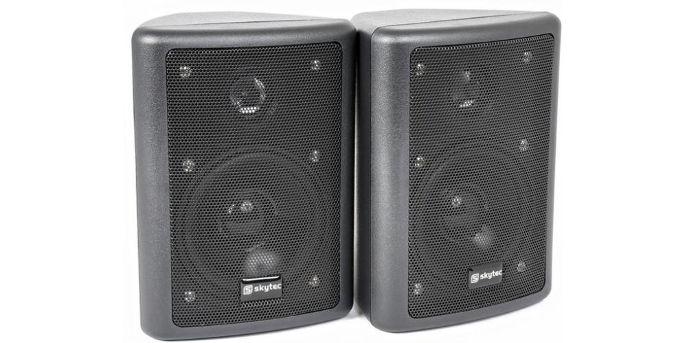 SKYTEC 100015 Conjunto de Altavoces Stereo HiFi Negro 75W