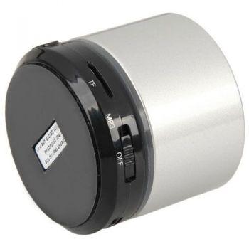 SOUNDBI Mini Altavoz Aluminio Bluetooth, con Slot Micro SD. Blanco