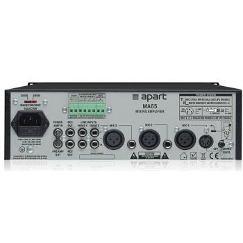 APART MA 65 Amplificador 65W con Mezclador de Micrófonos / Linea