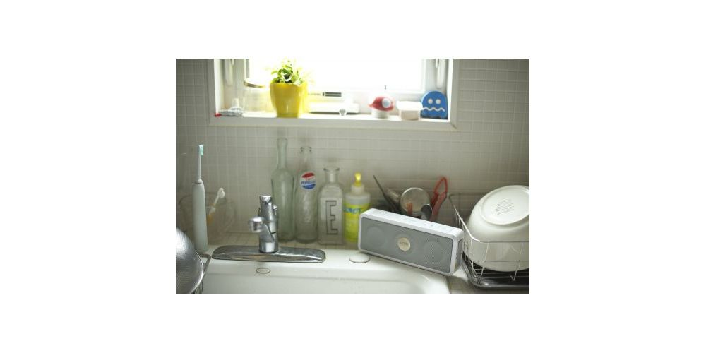 tdk a33 altavoz bluetooth intemperie blanco aguanta salpicaduras agua white