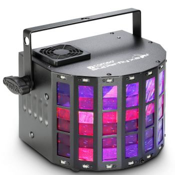 CAMEO SUPERFLY XS Efecto de luces 2 en 1 con derby y estrobo
