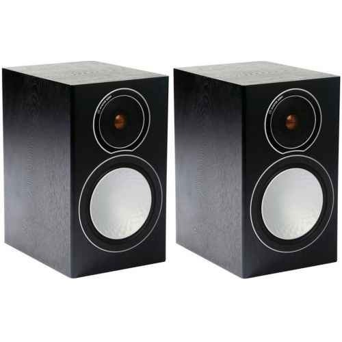 monitor audio silver 1 par de bafles de estante black oak