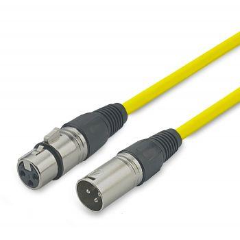 Audibax Silver Cable XLR macho - XLR Hembra 10 Metros Amarillo