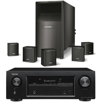 DENON AVR-X540 BK+BOSE AM6 V Black