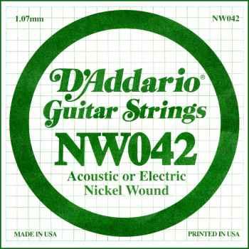 D´addario NW042 Cuerda Suelta para Guitarra Eléctrica