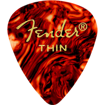 Fender 351 Shape Premium Picks Thin Tortoise Shell Pack 12
