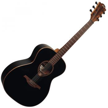 LAG T118A-BLK Guitarra Acústica Tipo Auditorium Serie Tramontane Color Negro Brillo